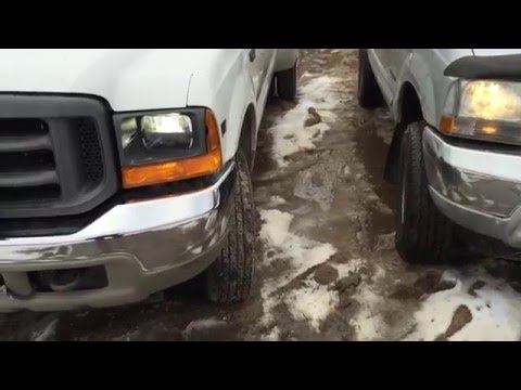 2016 F350 Super Duty >> Ford Super Duty LED Headlight UPGRADE - YouTube