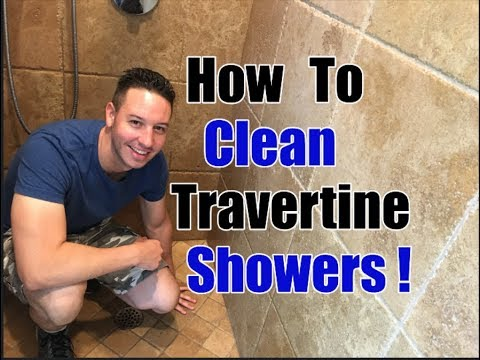 How To Clean Travertine Showers   Cleaning Transformation
