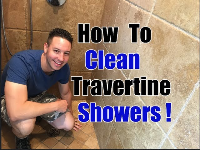 How To Clean Travertine Showers Cleaning Transformation Youtube