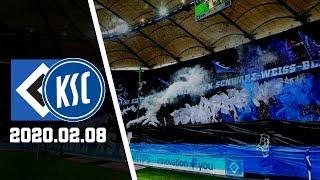 Hsv - karlsruher : pyro 2020.nordtribüne hamburg (hsv-fans) legale pyrotechnik   hamburger sv gegen sc 2020.02.08 in germany » 2. bundesliga 2019/...