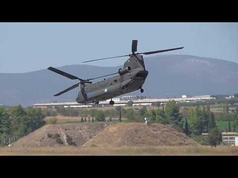 Athens Flying Week 2017 Hellenic Army Aviation CH-47D Chinook and UH-1H Huey