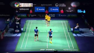 2014 THE STAR AUSTRALIAN BADMINTON OPEN-QF-MD-Lee Y D/Yoo YS [4] (KOR) VS Goh V S/Tan W K (MAS)