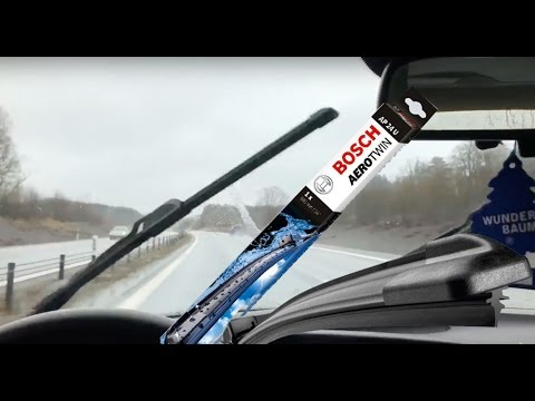 new bosch aerotwin wipers on my saab test 160kmh youtube. Black Bedroom Furniture Sets. Home Design Ideas