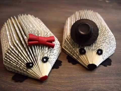 DIY Hedgehog book folding
