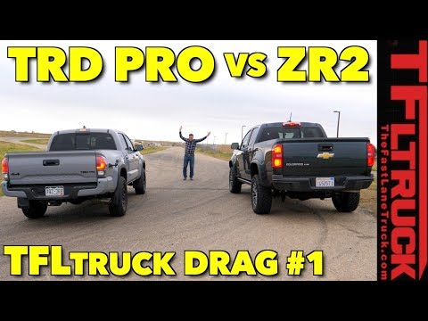 Which One Is Faster? Chevy Colorado ZR2 Vs Toyota Tacoma TRD Pro Drag Race