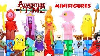 Adventure Time Cartoon Network w/ Finn & Jake the Dog Princess Bubblegum Unofficial LEGO Minifigures