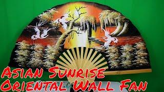 Asian Sunrise - Oriental Wall Fan