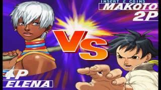 Street Fighter III: 3rd Strike - Fight for the Future (Arcade) - (Longplay - Elena | Hard) thumbnail