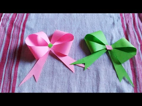 Diy Easy Paper Bow or Ribbon for gift box decoration
