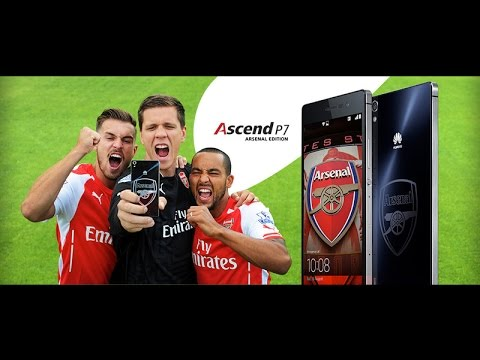 ARSENAL PHONE Huawei Ascend P7 Arsenal Edition-Special edition...Arsenal smart phone [my views]