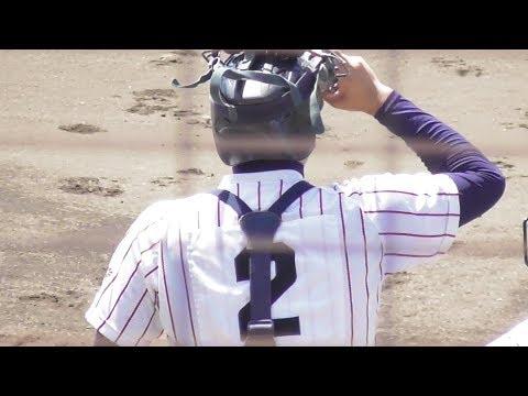 豊川の捕手・桑名選手 東邦の盗塁阻止3連発