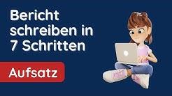 Bericht schreiben in einfachen 7 Schritten - ✅ Bericht für die Schule (🛑) Checkliste Bericht