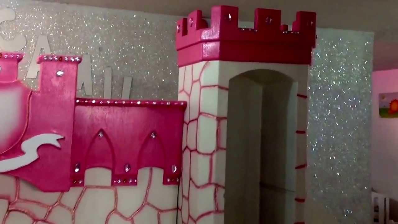 Rec mara para ni a tipo castillo youtube for Decoracion de cuartos para ninas frozen