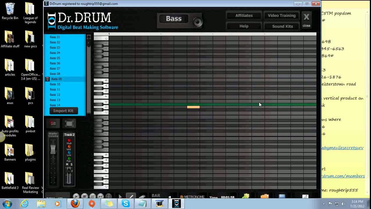 dr drum beat maker review dr drum digital beat making software youtube. Black Bedroom Furniture Sets. Home Design Ideas