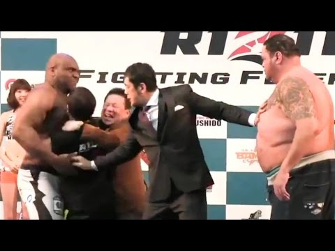 Bob Sapp vs Akebono Rizin Weigh-In Is One Of The Funniest I Have Ever Seen