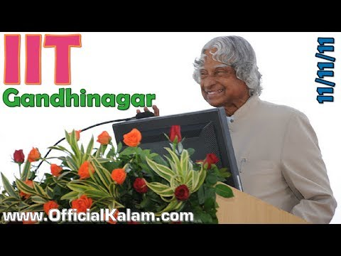 Dr APJ Abdul Kalam at IIT Gandhinagar on 11-11-11