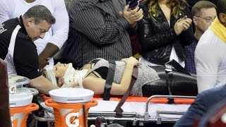 Courtside Dangers Exposed After Golf Pro's Wife is Slammed By LeBron James