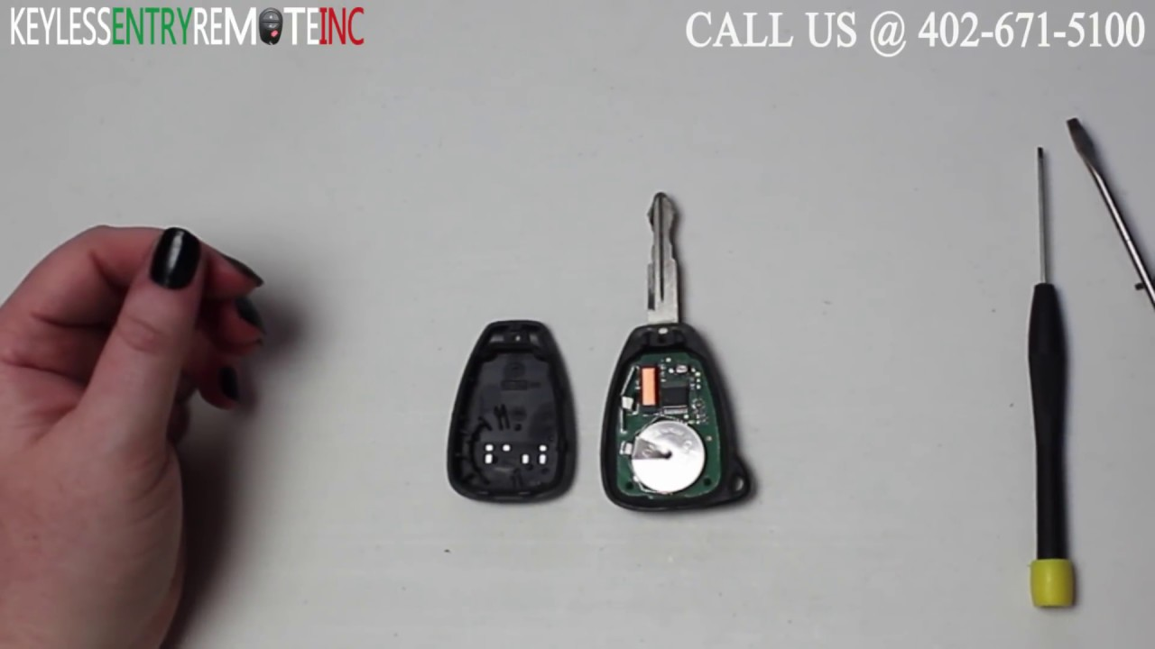 Jeep Key Fob Battery >> How To Replace Jeep Commander Key Fob Battery 2006 - 2007 ...