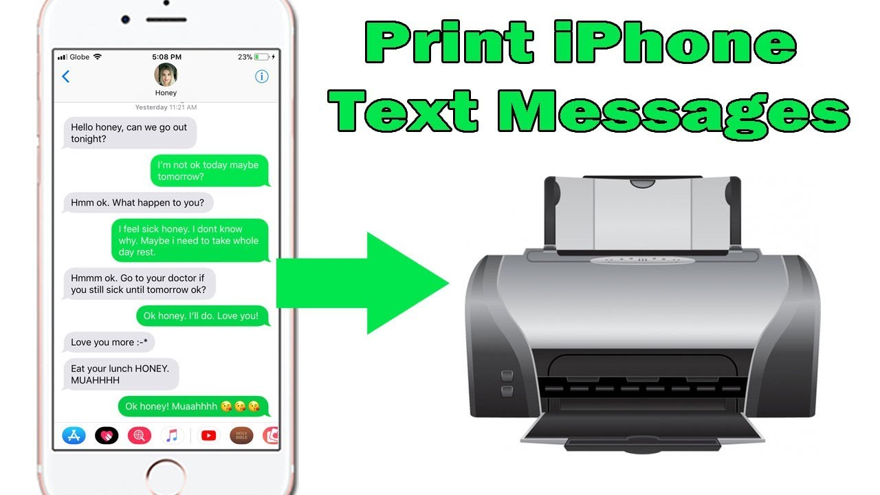 How to Print iPhone Text Messages and iMessages for Court or Archiving  Purposes