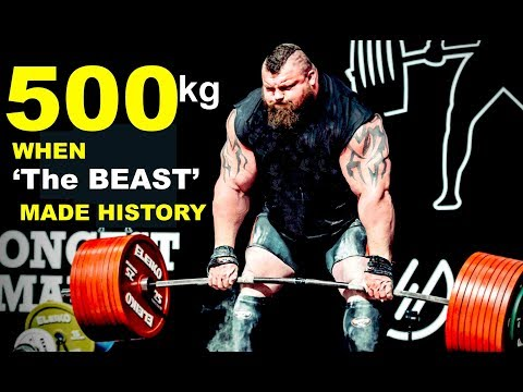 Eddie Hall:  The 500kg Deadlift World Record set at Giants live, 2016