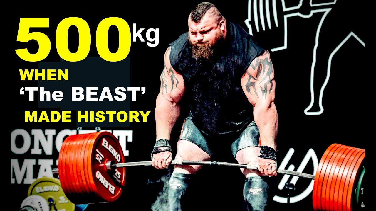 WORLD RECORD | Eddie Hall: The 500kg Deadlift World Record set at Giants  live 2016