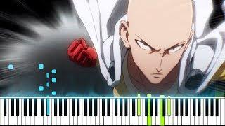 "[One Punch Man Season 2 OP] ""Seijaku no Apostle / 静寂のアポストル"" - JAM Project (Synthesia Piano Tutorial)"