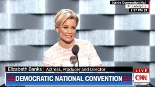 Elizabeth Banks #DNC #DemsInPhilly Compares T...