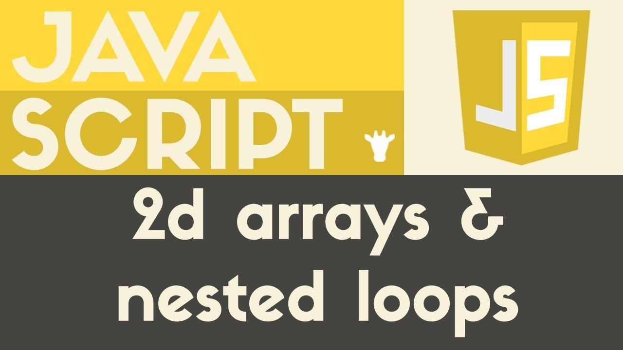 Nested Loops & 2D Arrays | Javascript | Tutorial 25