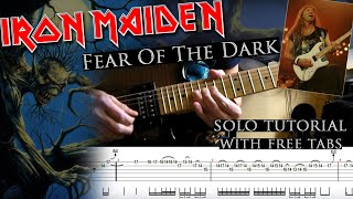 Iron Maiden - Fear Of The Dark Dave Murray's solo lesson (with tablatures and backing tracks)