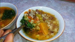 Этот узбекский супчик вы будете готовить всегда.На ужин или обед.Покоряет СРАЗУ.УЗБЕЧКА ГОТОВИТ