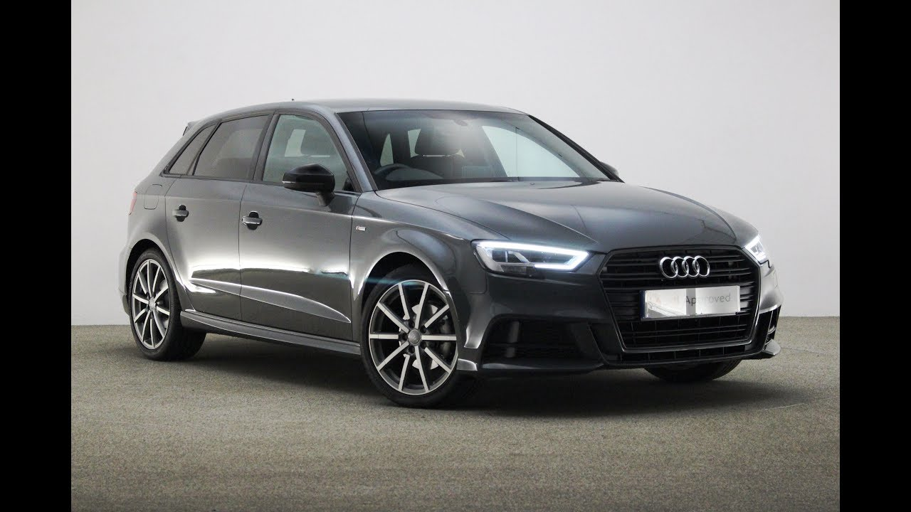 Audi Nano Grey >> RE17BVO AUDI A3 TFSI S LINE BLACK EDITION GREY 2017, Reading Audi - YouTube