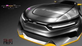 Car design Photoshop Rendering