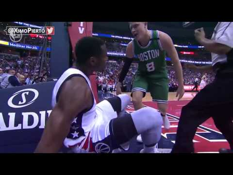 Ian Mahinmi & Jonas Jerebko Scuffle   Celtics vs Wizards   Game 3   May 4, 2017   2017 NBA Playoffs