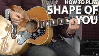 How to Play Shape of You Ed Sheeran Guitar Lesson