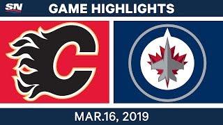 NHL Highlights | Flames vs Jets – Mar 16, 2019