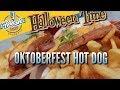 Oktoberfest Hot Dog and Pumpkin Spice Funnel Cake Fries | Halloween food review