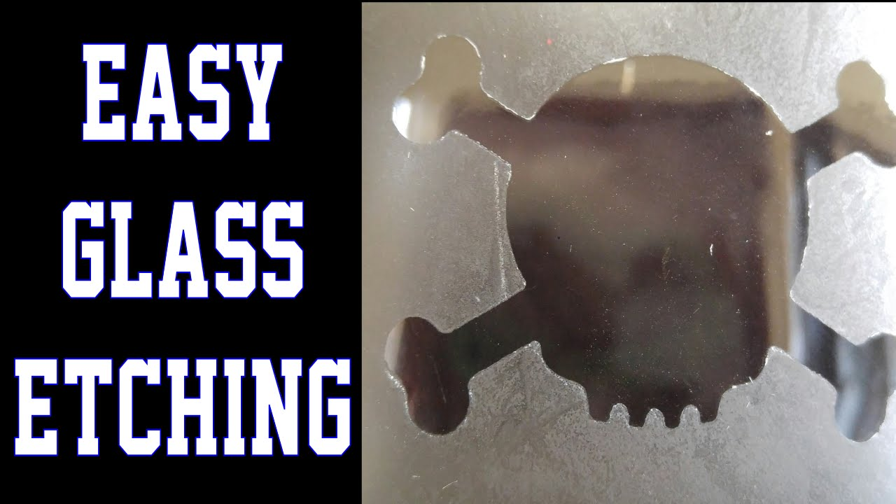 How To Etch Glass How To Etch Glass Chemical Use 18 Only Youtube