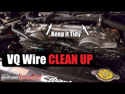 Nissan 350Z/ Infiniti G35 VQ Engine Wire Clean Up | AnthonyJ350