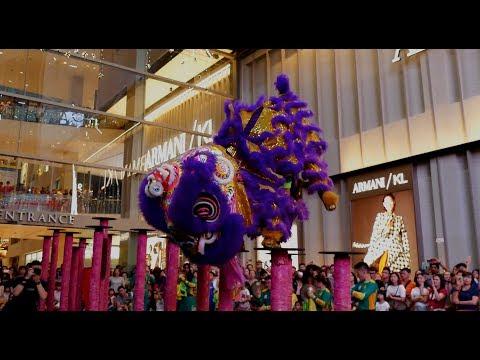 World Dragon & Lion Dance Day 2018 (Malaysia) Lion Dance - Khuan Loke 世界龙狮节 (马来西亚站) 群樂《高樁舞獅》