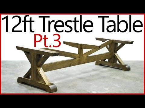 Part 3 - Building a Table Base - Oak Trestle Table Woodworking Series!