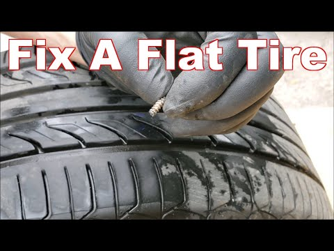 How to Fix A Flat Tire (How to Repair A Tire With A Nail In It With A Plug)
