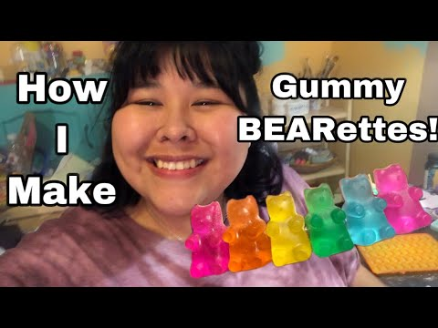 making my resin gummy bear barrettes and resin tips