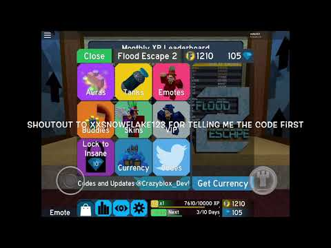 Roblox Flood Escape 2 July 2018 Codes Fe2 New Code September 2018 Youtube