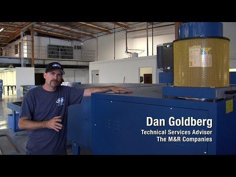 M&R Screen Printing Equipment Setup—Dryer Ducting