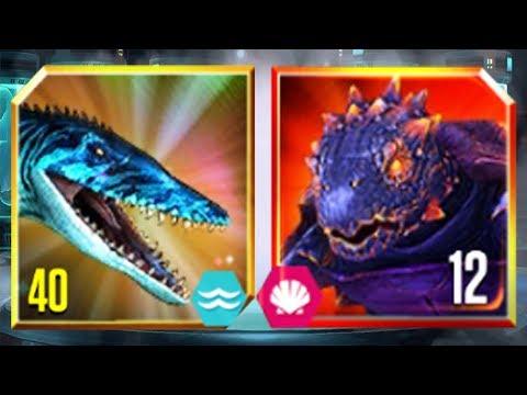 MOSASAURUS Vs AKUPARA 81 - Jurassic World The Game