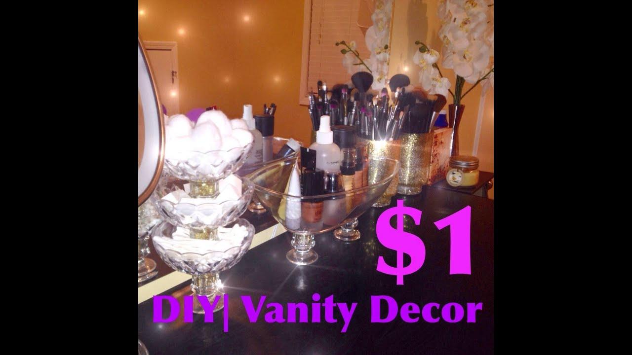 DIY|MakeUp Vanity Display $1store   YouTube