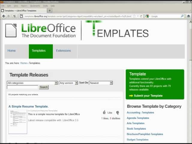 libre office writer 25 templates part 2