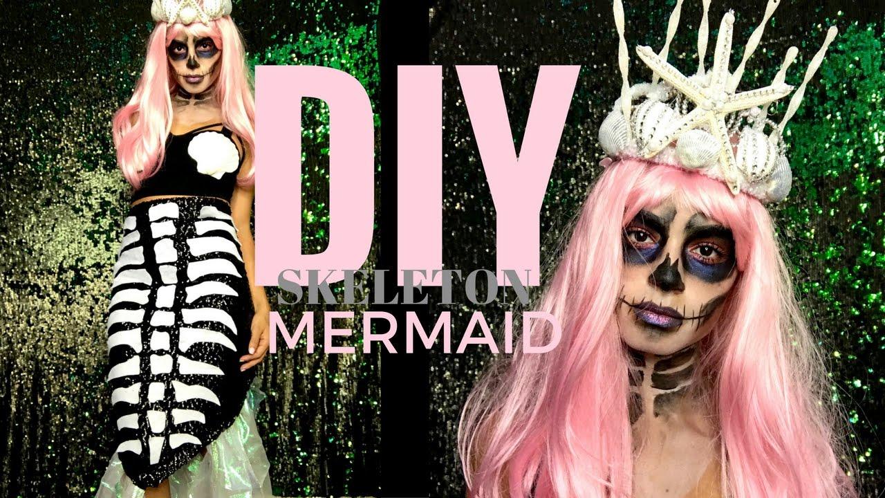 skeleton mermaid halloween costume diy mermaid crown outfit