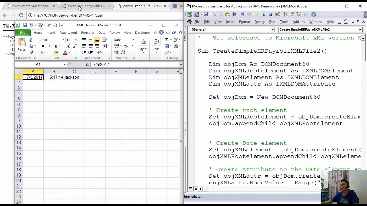 Excel HR Tip 02 - XML File Generator for Payroll to Account System