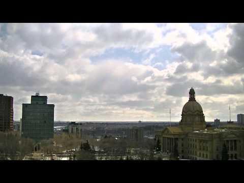 Time Lapse Clouds Over Parliament (Edmonton, AB)